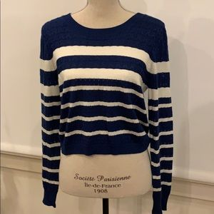 Soft by Joie navy striped sweater